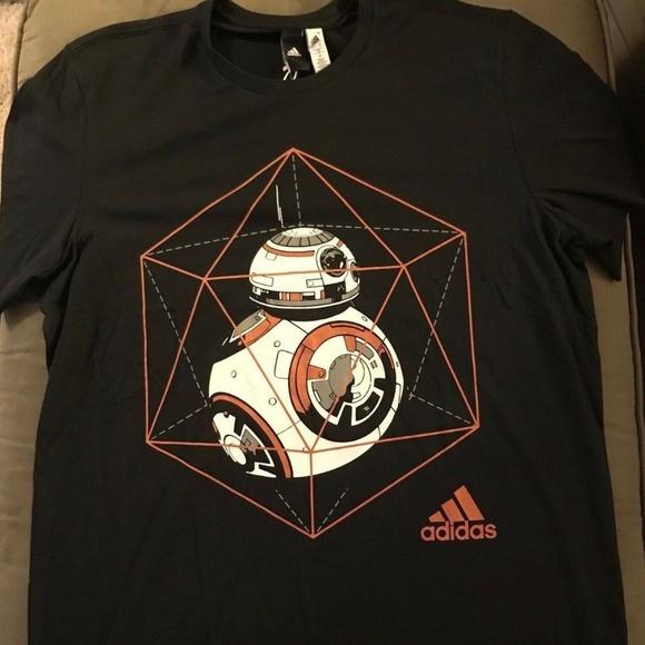 Retro Droid Tee Men/'s Star Wars BB-8 Big Eight Black Crew Neck T-Shirt